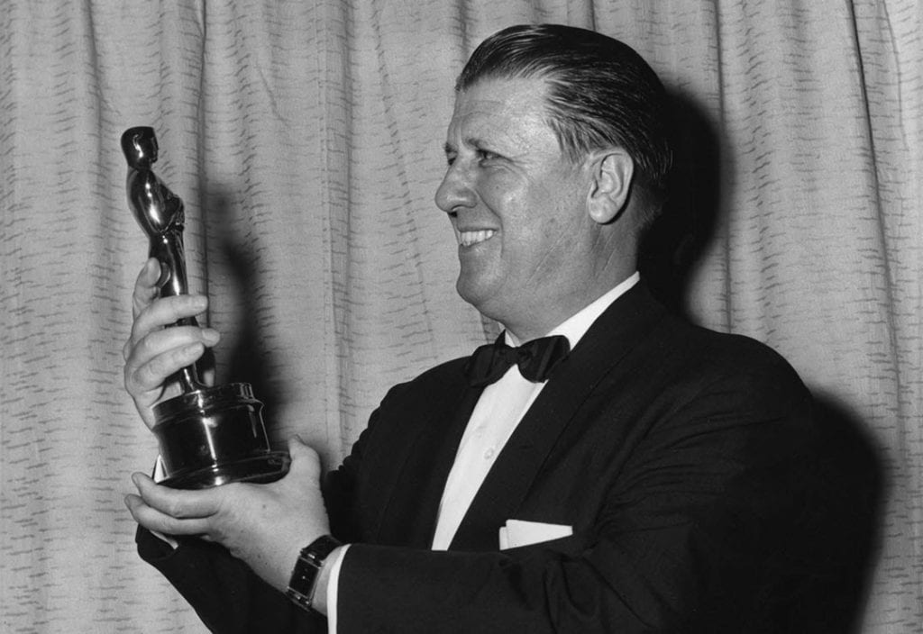 George Stevens with his Academy Award for Giant (1956)