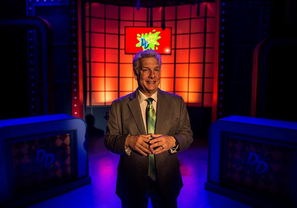 Host, producer, and comedian Marc Summers. (Photo courtesy of Bloomington Playwrights Project from the 2016 production of Everything in Its Place: The Life and Slimes of Marc Summers.)