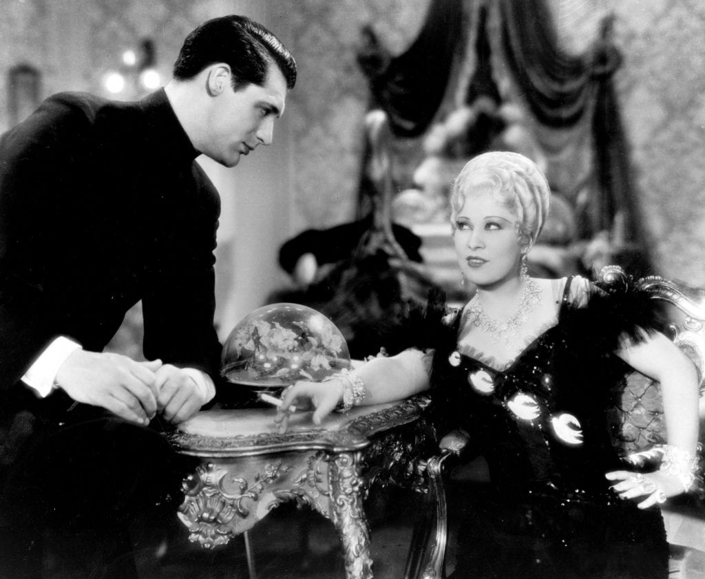 Mae West and Cary Grant in SHE DONE HIM WRONG (1933)