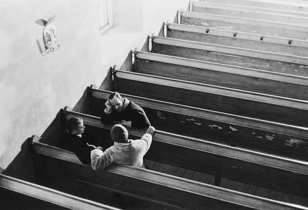 Bergman on the set of Winter Light
