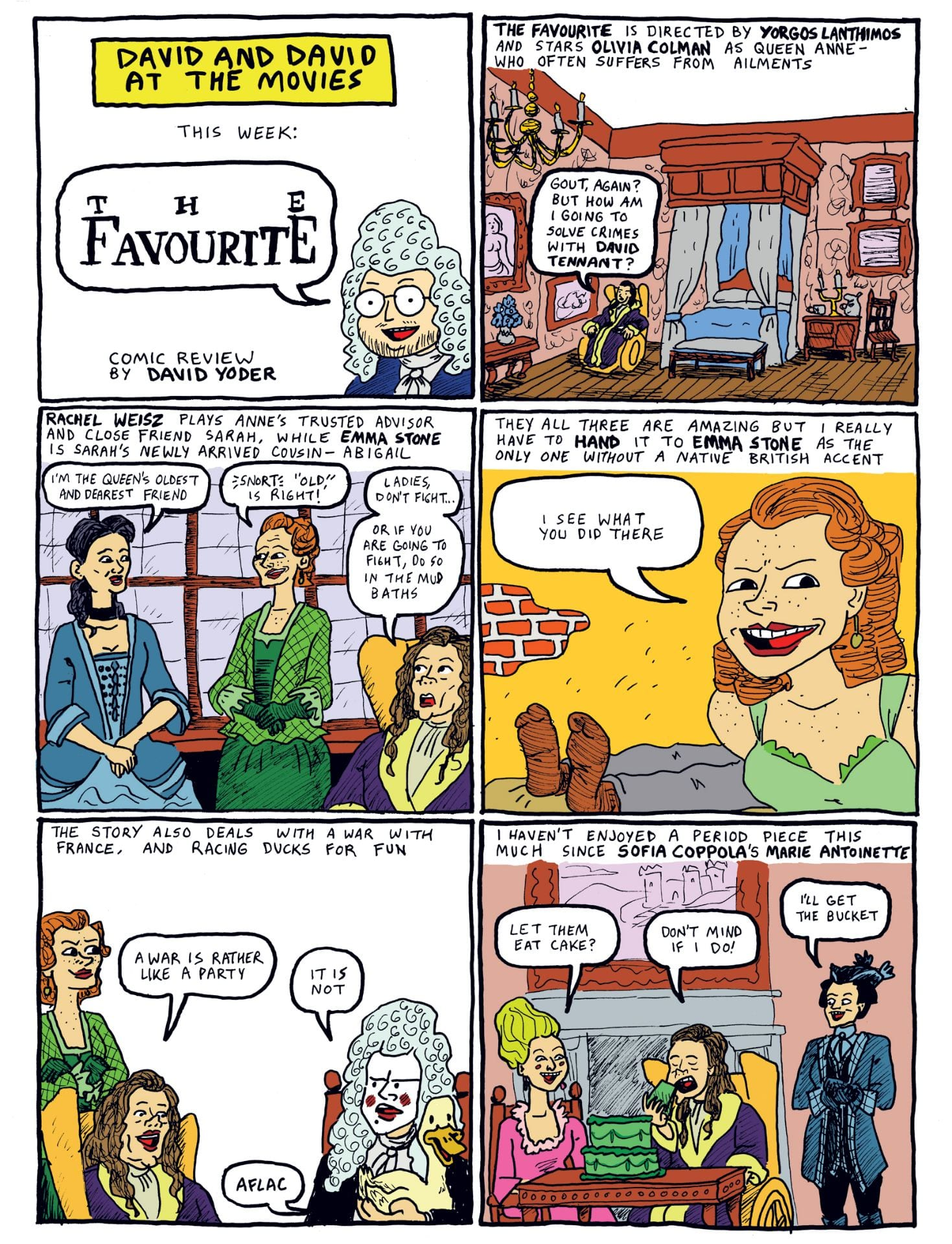 The Favourite comic by David Yoder
