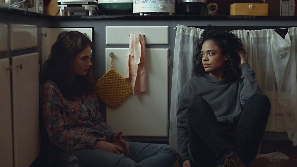 Tessa Thompson and Lily James respectively play sisters Ollie and Deb in Little Woods