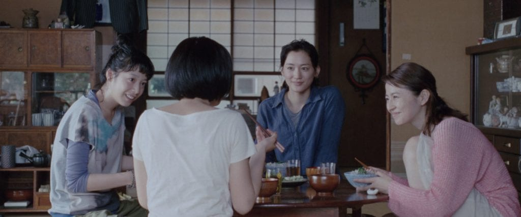 Suzu and her new family in Our Little Sister (2015)