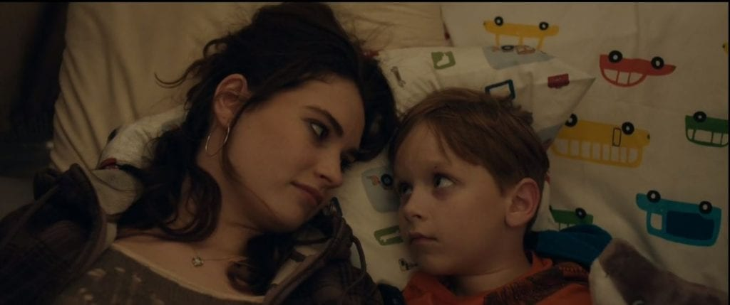 Lily James and Charlie Ray Reid in Little Woods