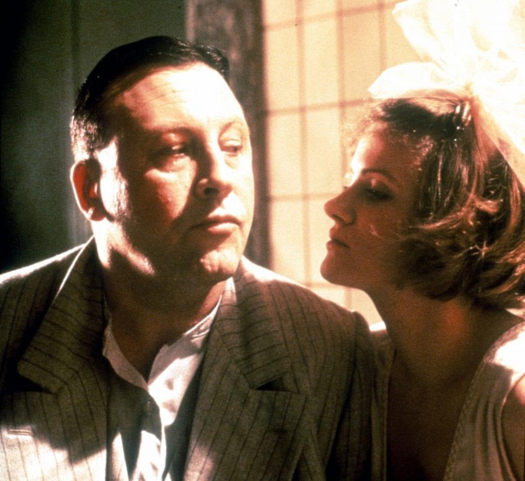 Günter Lamprecht and Barbara Sukowa as Franz Biberkopf and Mieze