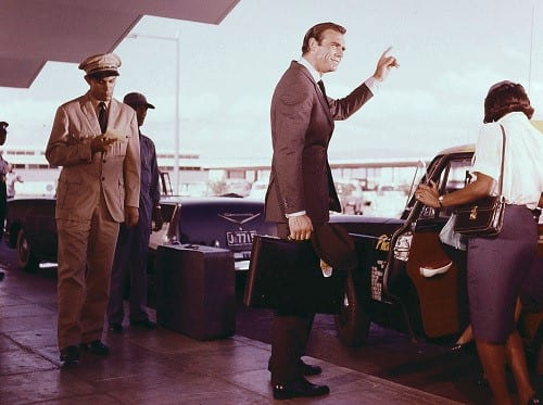 Bond at the Kingston airport in Dr. No