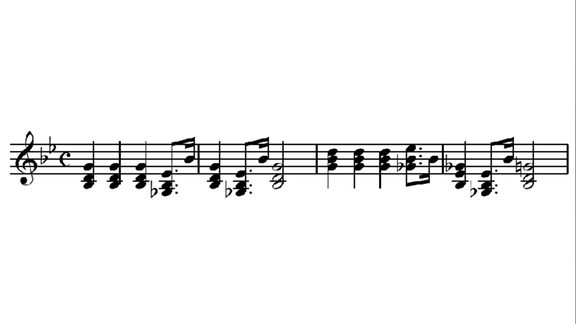 Imperial March music notes