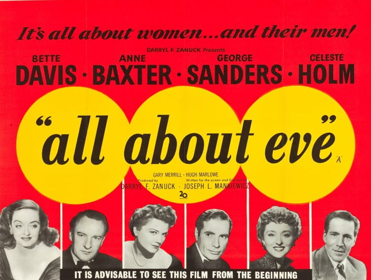 Original poster for All About Eve (1950).