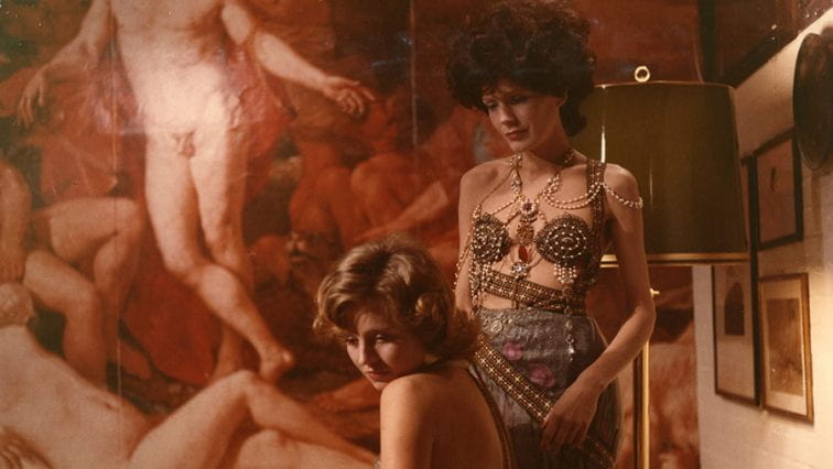 Petra and Karin in The Bitter Tears of Petra Von Kant (1972).