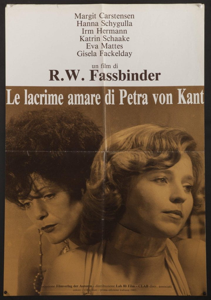 Poster for The Bitter Tears of Petra Von Kant (1972).