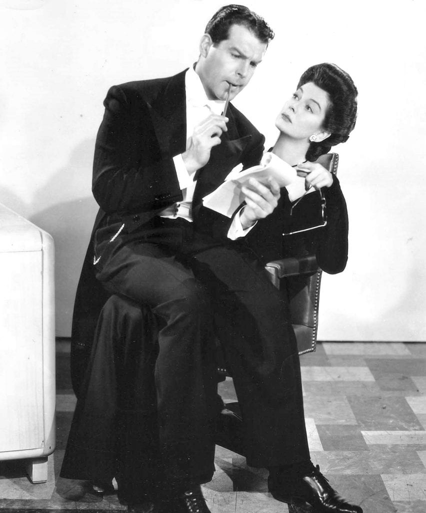 Fred MacMurray and Rosalind Russell