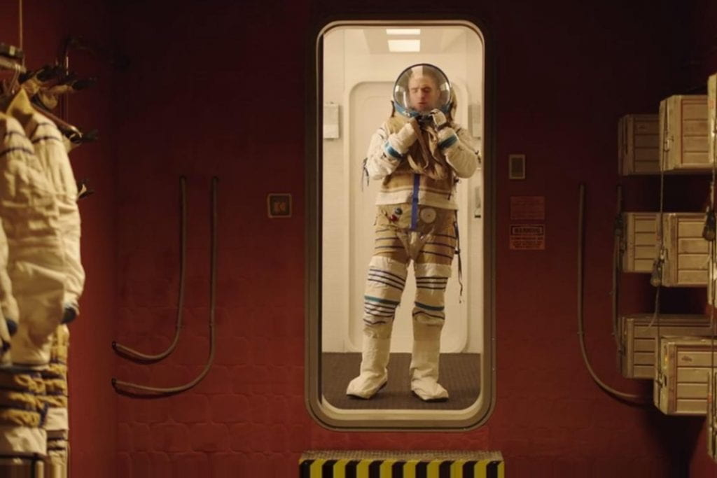 Monte played by Robert Pattinson in <em>High Life