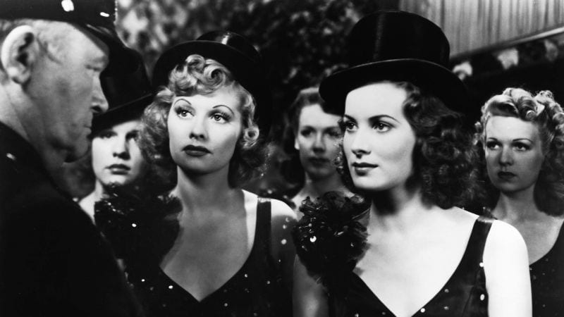 Lucille Ball and Maureen O'Hara in Dance, Girl, Dance