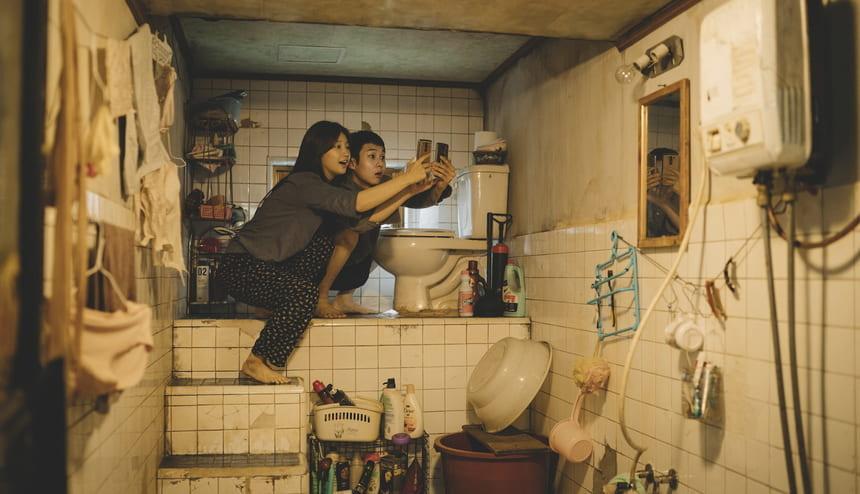 Still from the film Parasite