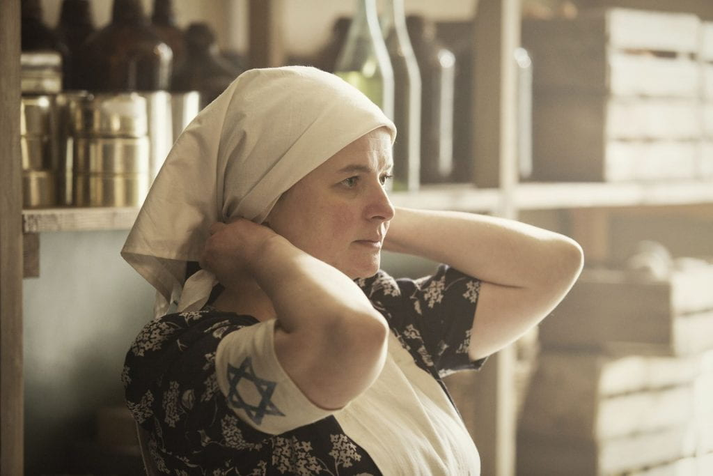 Still of Jowita Budnik as Rachel Auerbach from Who Will Write Our History. (Photo credit: Anna Wloch.)