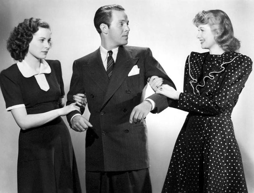 O'Hara, Hayward, and Ball in a publicity photo for the film