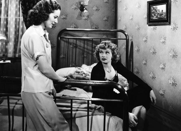 O'Hara and Ball in a scene from the film