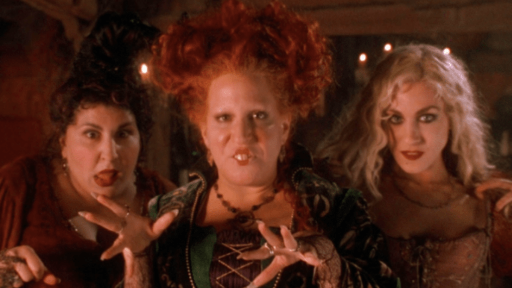 Image of the Sanderson Sisters casting a spell