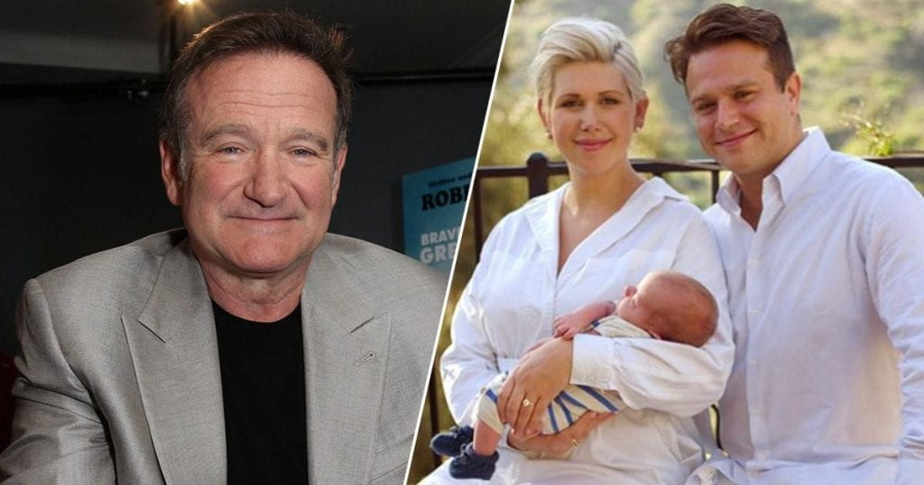 Left: Robin Williams. Right: Zak Williams with his family.