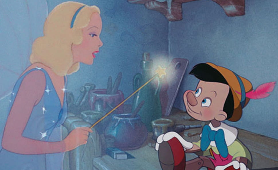 Still of the Blue Fairy and Pinocchio