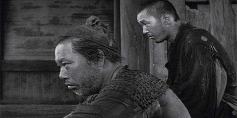 The Woodcutter (Takashi Shimura), unable to understand what he has experienced.