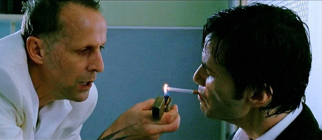Peter Stormare and Keanu Reeves in Constantine