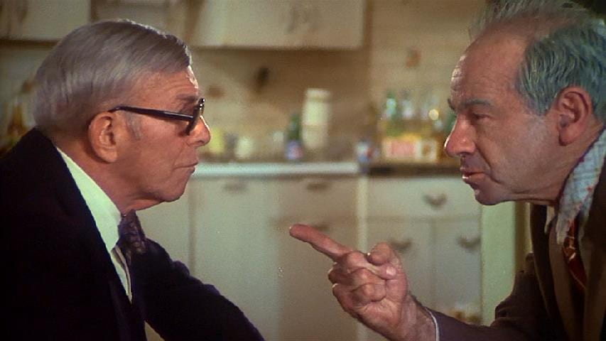 George Burns and Walter Matthau disagreeing in The Sunshine Boys (1975)