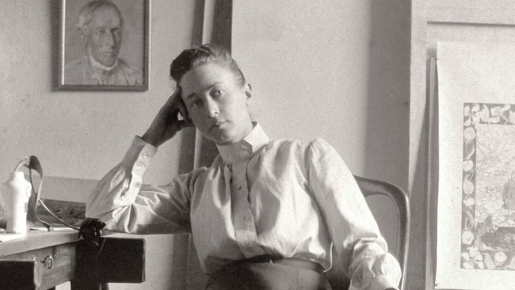 Hilma af Klint at her studio in Stockholm, c.1895
