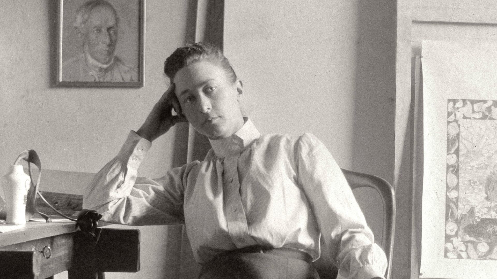 Hilma af Klint at her studio in Stockholm, c.1895