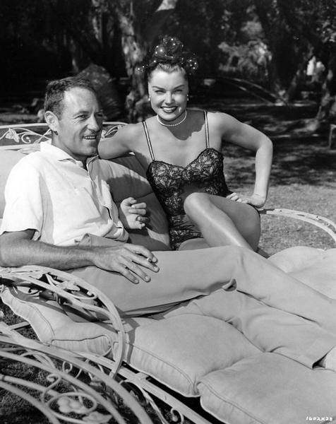 Director Charles Walters and Esther Williams on the set of Dangerous When Wet (1953)