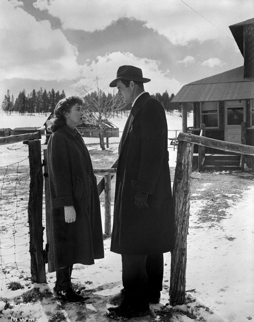 An icy outdoor shot from the second half of the film.