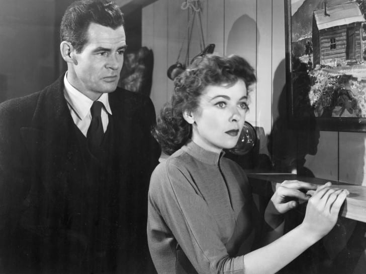 Two great American actors: Robert Ryan and Ida Lupino.