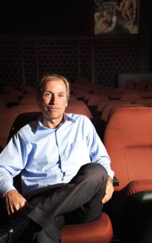 Jon Vickers in the Indiana University Cinema.