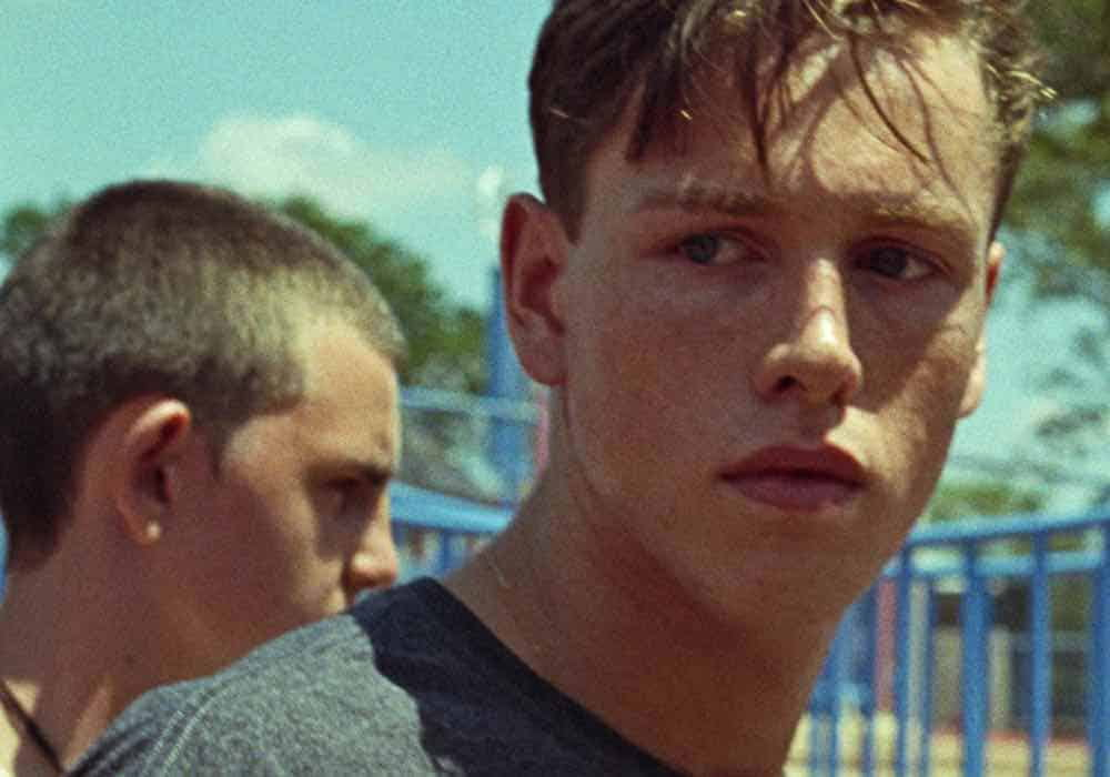 Harris Dickinson as Frankie in Beach Rats