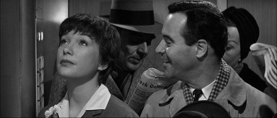 Shirley MacLaine and Jack Lemmon in The Apartment