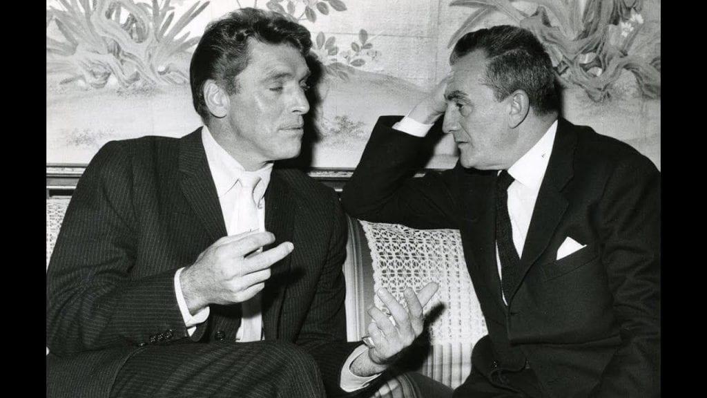 Luchino Visconti with Burt Lancaster.