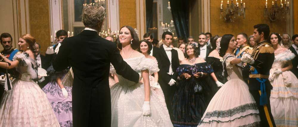 Burt Lancaster dances a final waltz with Claudia Cardinale in The Leopard.
