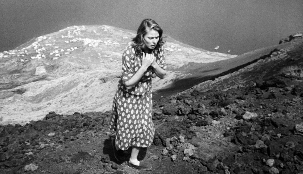 Karin (Bergman) approaches the volcano.