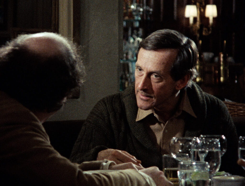 Andre Gregory (right) and Wallace Shawn in the 1981 film My Dinner with Andre.