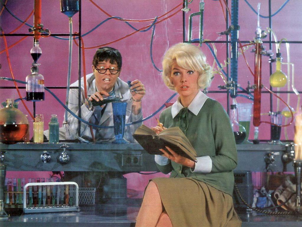 A modern <em>Jekyll &amp; Hyde</em> scenario: Jerry Lewis in The Nutty Professor (1963).