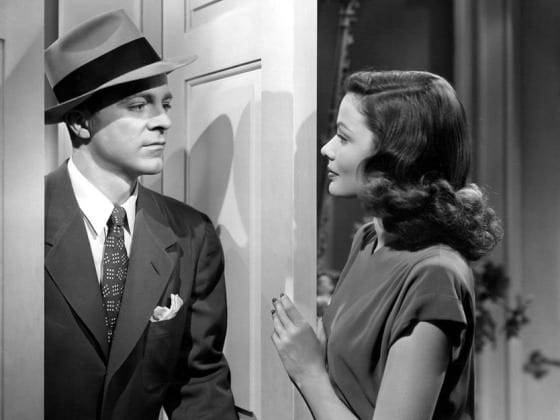 Dana Andrews and Tierney in Laura