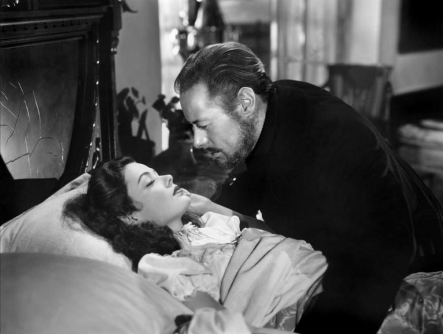 Tierney and Rex Harrison in The Ghost and Mrs. Muir