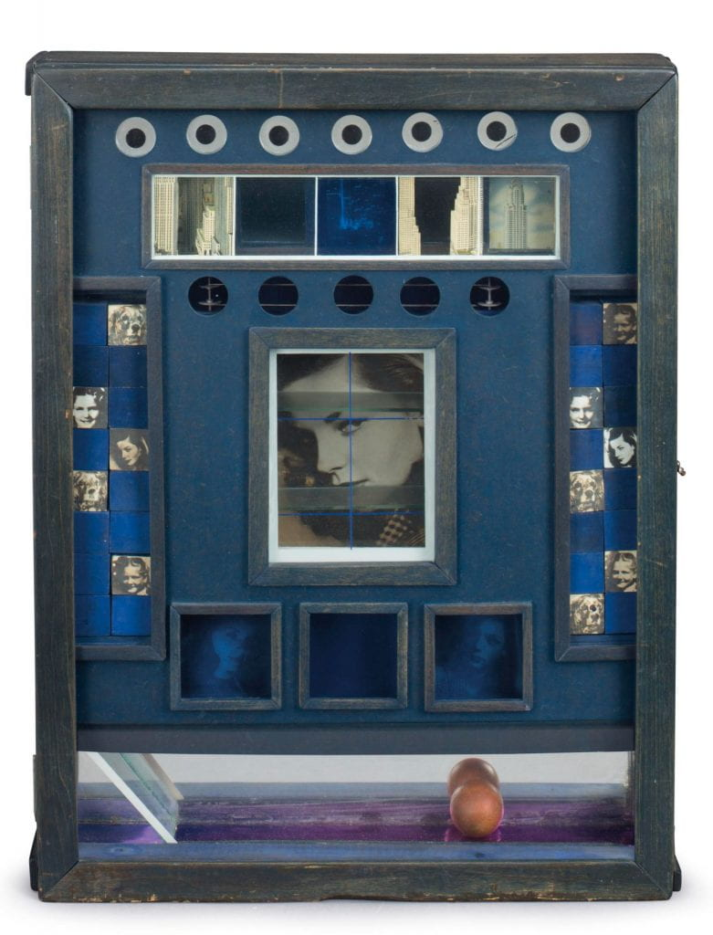 Untitled (Penny Arcade Portrait of Lauren Bacall) by Joseph Cornell, c. 1945-46