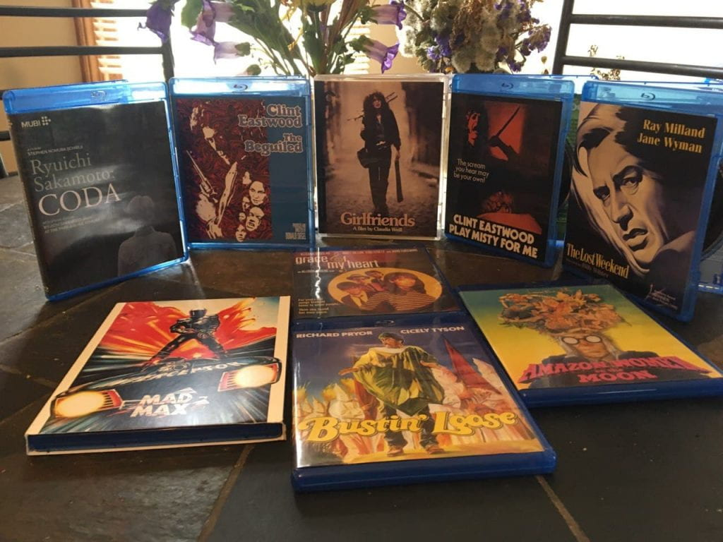 A collection of various Blu-rays