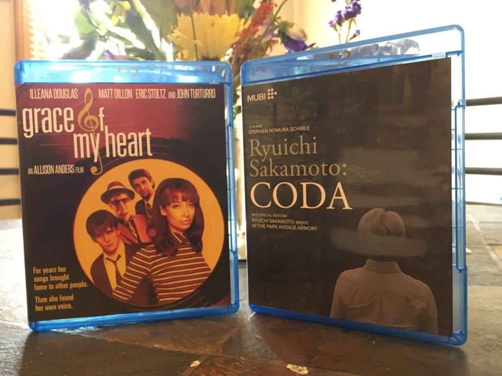 Blu-rays of Grace of My Heart and Coda