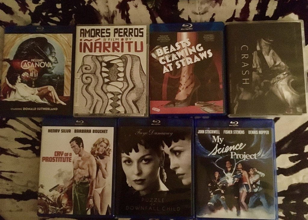 A selection of Blu-rays