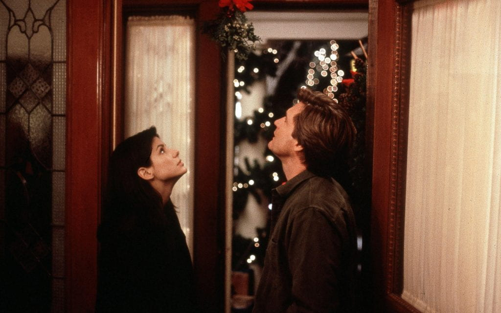 Sandra Bullock and Bill Pullman in While You Were Sleeping