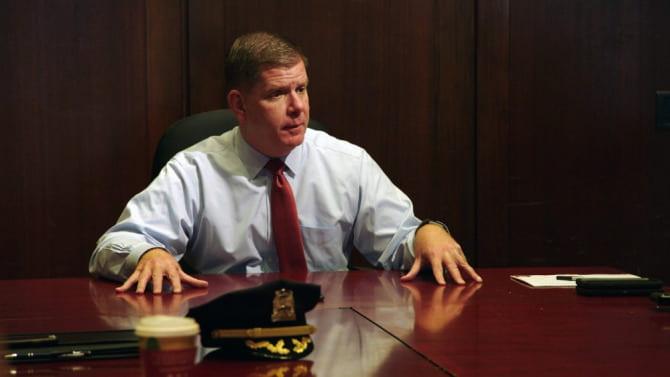 Mayor Marty Walsh in City Hall.