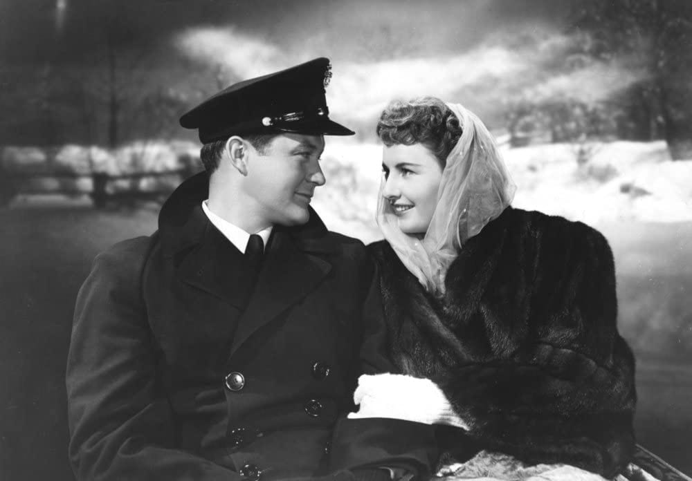 Dennis Morgan and Barbara Stanwyck in Christmas in Connecticut