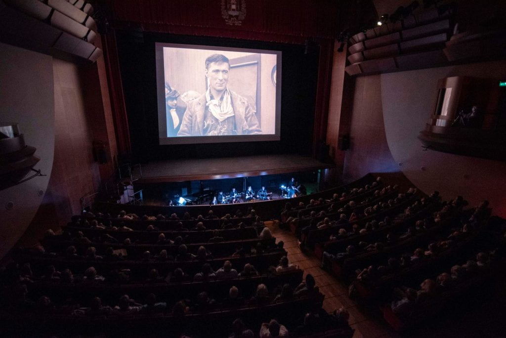 Ari Barack Fisher's score being performed at the Le Giornate del Cinema Muto film festival in Pordenone, Italy, on October 11, 2019.